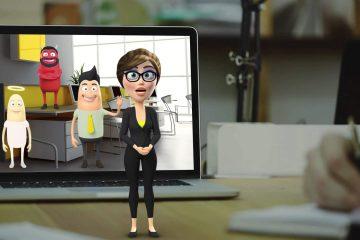 סרטון אנימציה עם פרזנטורים תלת מימדיים